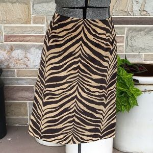 Talbots Velvet Animal Print Skirt